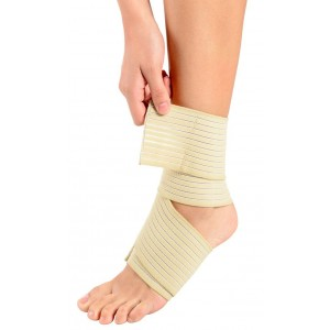 ORTHOLIFE ELASTIC ANKLE WRAP / UNIVERSAL / TAN (D)