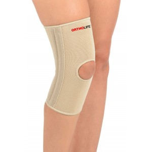 ORTHOLIFE ELASTIC KNEE BRACE WITH SPLINTS